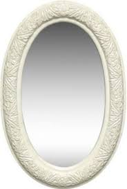 dlmbj 03aw oval mirror in antique white
