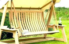 bench swing wooden 4 patio furniture