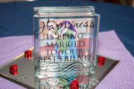 Words And Wisdom Custom Vinyl Lettering Glass Blocks Wedding Center Piece Decorations Glass Blocks Glass Block Crafts Custom Vinyl Lettering
