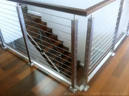 Competitive Price Stainless Steel Cable Railing Systems Wire Railing Wire Balustrade Wire Fence With Black Carbon Steel Baluster China Cable Railing Balcony Railing Made In China Com
