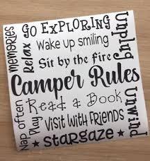 Camper Van Rules Caravan Camping Decal Vinyl Sticker Ikea Ribba Box Frame Gifts Ebay
