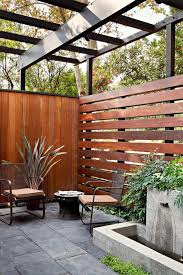 Los Angeles Horizontal Privacy Fence Patio Midcentury With Modern Outdoor Lounge Sets Living Privacy Fence Designs Patio Fence Fence Design