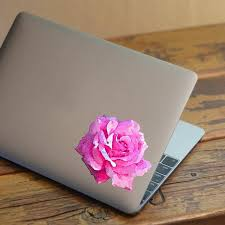 Pretty Water Color Rose Printed Decal For Laptops Windows And More Azvinylworks