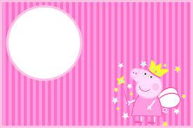 Imprimibles Gratuitos E Invitaciones De Peppa Pig Hada Fiesta