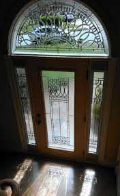 decorative glass for front door sides