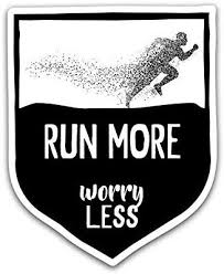 Amazon Com Run More Worry Less Vinyl Decal Sticker Car Truck Van Suv Window Wall Cup Laptop One 5 25 Inch Decal Mks0823 Automotive