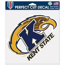 Kent State Golden Flashes Die Cut Decal 8 X8 For Car Windows Corn Hole Ebay