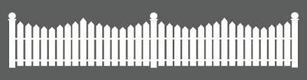 White Picket Fence Decal Contemporary Wall Decals By Dana Decals