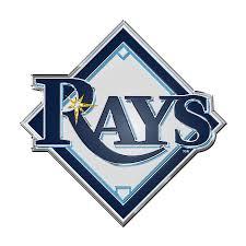Tampa Bay Rays Color Emblem 3 Car Team Decal
