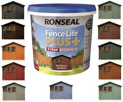 Ronseal 9l Teal Fence Life Plus Garden Shed Fence Paint Uv Potection All Colours 9l Teal Amazon Co Uk Diy Tools
