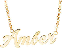 laofu silver personalized name necklace