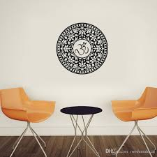 Yoga Studio Om Sign Wall Stickers Home Decor Window Decorative Indian Mandala Wall Decals Vinyl Adhesive Stickers Tree Wall Decor Stickers Tree Wall Mural Decal From Moderndecal 8 67 Dhgate Com