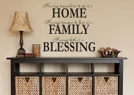 Home Family Blessing Wall Decals For Living Room