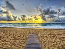 ocean sunset wallpaper beaches nature