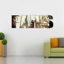 Collage Paris City Personalized Wall Sticker Home Decor Art Mural Custom Wc183 Ebay