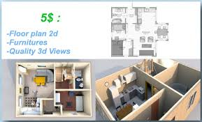 create a floor plan 2d and 3d view