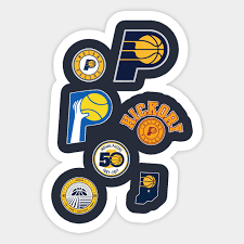 Indiana Pacers Logo History Indiana Pacers Sticker Teepublic