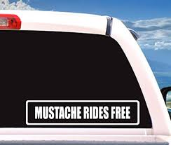 Amazon Com Lplpol Mustache Rides Free Funny Naughty Car Decal Decals Laptop Stickers Stickers Vinyl Stickers Car Stickers Funny Car Decals Custom Stickers 6 Kitchen Dining