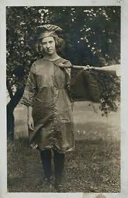 RPPC Young Girl, Costume?, Baton?, IVA MAY SAVORY, Age 12 years, 10 months,  1913 | eBay