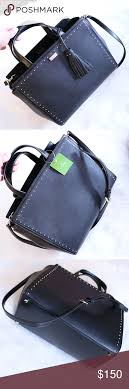 "NWT Kate Spade Abby West Black Studded Handbag SIZE 9.4""h x 12""w x 5.7""d  drop length: 4.1"" handheld, 16"" adjustab… 