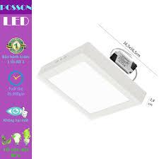 Giảm 26 %】 Đèn Led ốp trần 12w vuông nổi sáng trắng Posson LP-So12