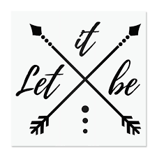 Amazon Com Let It Be Vinyl Decal Arrow Compass Flask Stickers Wanderlust Laptop Stickers Quote Water Bottle Stickers Cute Car Decals Decals For Tumblers Mirror Decals Handmade