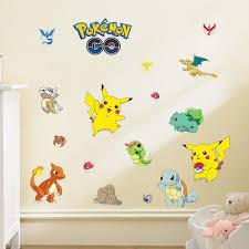 Pokemon Go Wall Stickers For Kids Nursery Boys Room Wall Decals