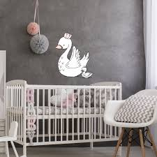Wall Decal Swan Mama And Baby Sweet Melody Designs