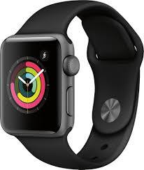 Apple Watch Series 3 (GPS) 38mm Space Gray Aluminum Case with Black Sport  Band Space Gray Aluminum MTF02LL/A - Best Buy