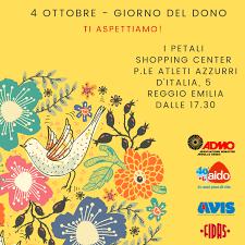 4 ottobre Giornata del Dono: insieme a Reggio Emilia • AVIS Regionale  Emilia-Romagna