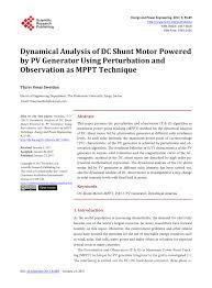 dynamical ysis of dc shunt motor