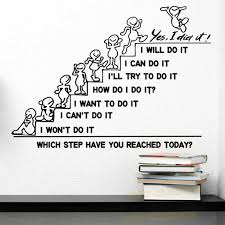 Motivation Wall Decals Quote Which Step Have You Reached Today Decal Office Sticker Bedroom Nursery Home Decor Art Murals L895 Wall Stickers Aliexpress