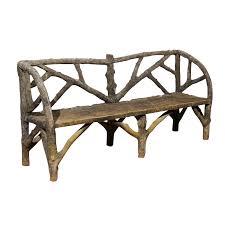 french faux bois bench foxglove