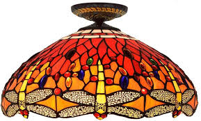 flush mount ceiling lamp tiffany style