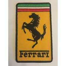 ferrarı logo patches peç arma ve kot