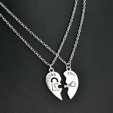 pendant 2pcs love you stainless steel