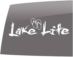 Amazon Com Window Swag Lake Life Sandals Solid White Decal Lake Life Outdoor Vinyl Sticker Automotive