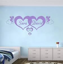 Amazon Com Zhrrya Custom Made Personalized Name Hearts Forever Vinyl Wall Art Stickers Angel Decal Mural For Kids Room Bedroom Home Decor 120x48cm Home Improvement