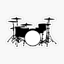 Drum Kit Stickers Redbubble