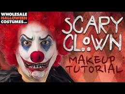 scary clown makeup tutorial whole
