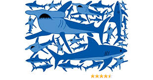 Amazon Com Shark Wall Decals Shark Wall Stickers Home Kitchen