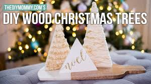 diy mini wood tree decorations