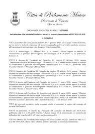 ORDINANZA SINDACALE N. 9 DEL 12/03/2020 Individuazione delle ...