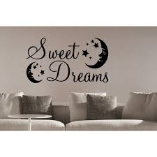 Shop Stars And Moon Sweet Dreams Wall Art Sticker Decal Overstock 11590960