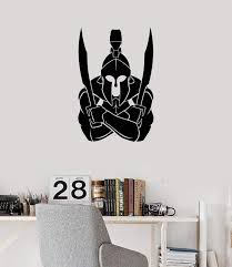 Vinyl Wall Decal Spartan Warrior Swords Boy Room Decoration Idea Stick Wallstickers4you
