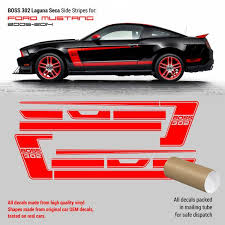 Ford Boss 302 Decals For Mustang Laguna Side Stripes