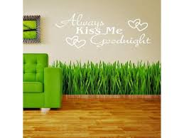 Always Kiss Me Goodnight Decal Wall Sticker Removable Home Decor Art White Newegg Com