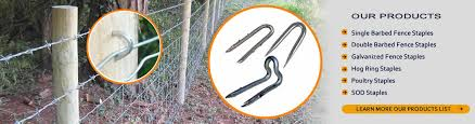 Fence Staples Ideal For Fixing Wire Mesh Fencing To Wood Posts