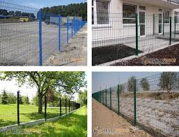 3d Welded Wire Mesh Fence Panels Ral6005 Dark Green Color China Metal Fence Supplier