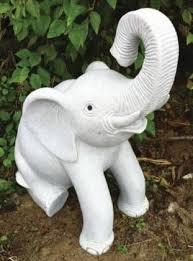 sitting elephant 70cm statue large